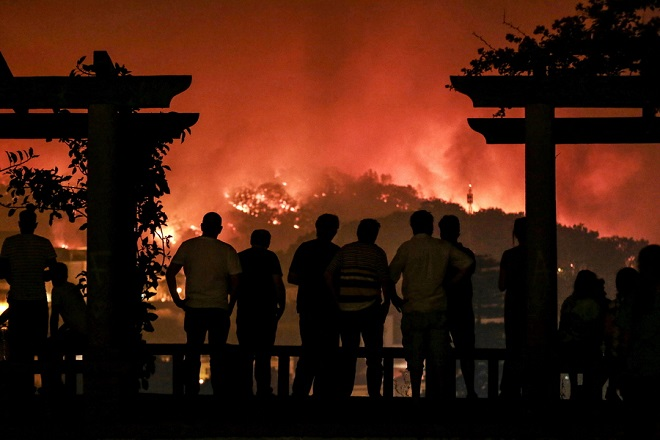 Wildfires burn in Monchique