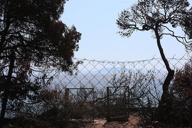 Συρματόπλεγμα εμποδίζει την πρόσβαση στη θάλασσα στον οικισμό Μάτι,που καταστράφηκε ολοκληρωτικά από την φονική πυρκαγιά της 23ης Ιουλίου, 39 χλμ από την Αθήνα, Τετάρτη 8 Αυγούστου 2018. ΑΠΕ-ΜΠΕ/ΑΠΕ-ΜΠΕ/ΟΡΕΣΤΗΣ ΠΑΝΑΓΙΩΤΟΥ