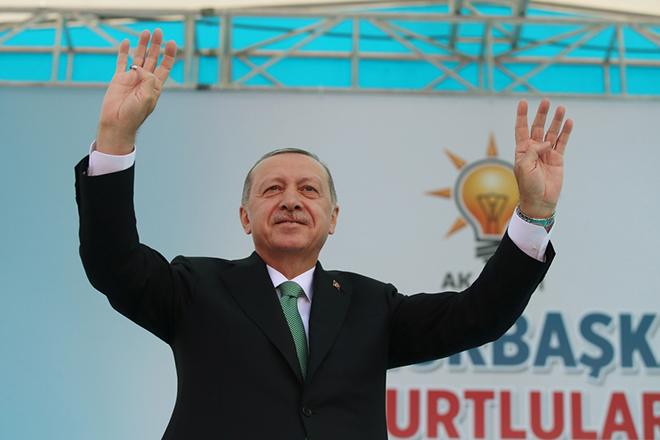 Turkish President Recep Tayyip Erdogan in Bayburt