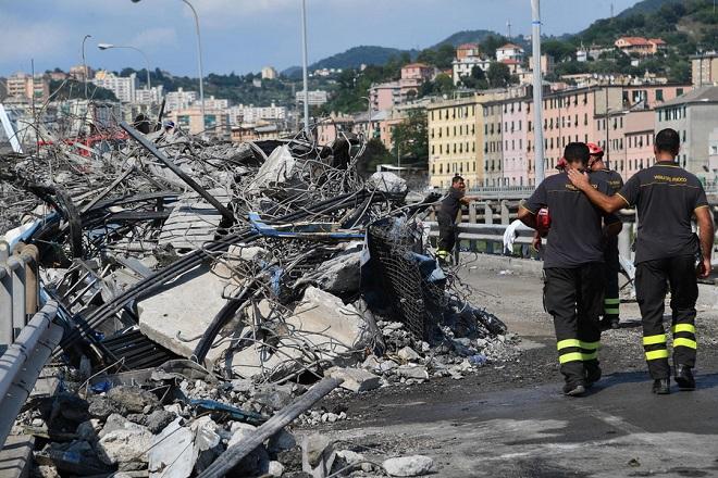 Ιταλία: Στους 43 οι νεκροί από την κατάρρευση της γέφυρας Μοράντι
