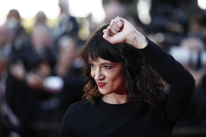 epa06750516 Asia Argento arrives for the screening of 'The Man who Killed Dom Quixote' and Closing Awards Ceremony of the 71st annual Cannes Film Festival, in Cannes, France, 19 May 2018.  EPA/IAN LANGSDON