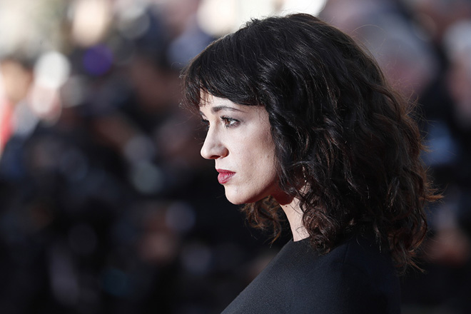 epa06750515 Asia Argento arrives for the screening of 'The Man who Killed Dom Quixote' and Closing Awards Ceremony of the 71st annual Cannes Film Festival, in Cannes, France, 19 May 2018.  EPA/IAN LANGSDON