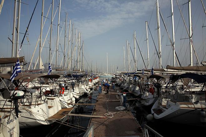 Ιστιοπλοϊκά σκάφη και γιότ στη Μαρίνα Αλίμου, Πέμπτη 12 Απριλίου 2018, όπου διοργανώνεται το 1o Φεστιβάλ Γιώτιγκ - Γιορτή Θαλάσσιου Τουρισμού από τον ΣΙΤΕΣΑΠ 12 –16 Απριλίου. ΑΠΕ-ΜΠΕ/ΑΠΕ-ΜΠΕ/ΣΥΜΕΛΑ ΠΑΝΤΖΑΡΤΖΗ