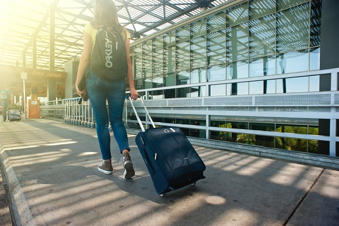 young person airport brain drain