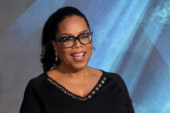 epa06601528 US talk show host and actress Oprah Winfrey arrives to the European premiere of 'A Wrinkle in Time' in London, Britain, 13 March 2018. The movie opens across British theaters on 23 March.  EPA/FACUNDO ARRIZABALAGA