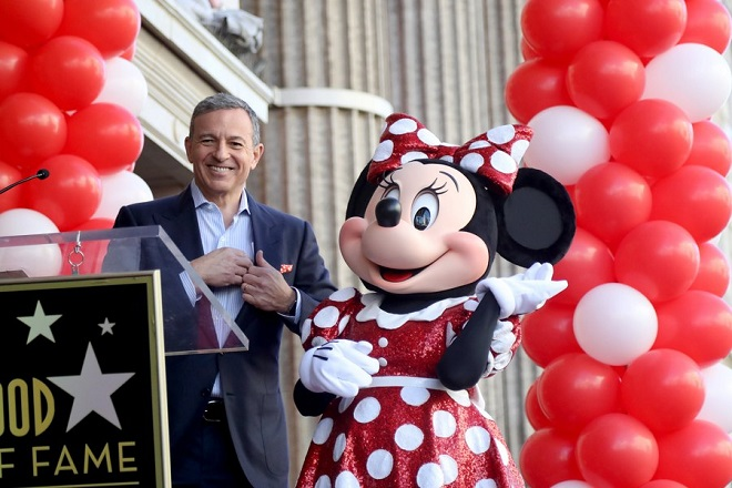 epa06466258 Disney Chairman and Chief Executive Officer Bob Iger attends the ceremony honoring Minnie Mouse with a Star on The Hollywood Walk of Fame in Hollywood, California, USA, 22 January 2018. Minnie Mouse received the 2,627th star on the Walk of Fame in the category of Television.  EPA/ANDREW GOMBERT