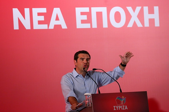 Ο πρωθυπουργός Αλέξης Τσίπρας μιλάει στη συνεδρίαση της Κ.Ε. του ΣΥΡΙΖΑ, Αθήνα Δευτέρα 27 Αυγούστου 2018.  ΑΠΕ-ΜΠΕ/ΑΠΕ-ΜΠΕ/ΟΡΕΣΤΗΣ ΠΑΝΑΓΙΩΤΟΥ