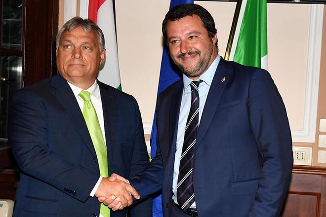 Το «όραμά» τους για μια «νέα» ΕΕ μοιράστηκαν Σαλβίνι-Ορμπάν