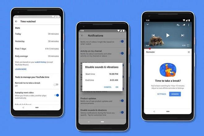 Η Google θα ελέγχει τον χρόνο που οι χρήστες περνούν στο YouTube