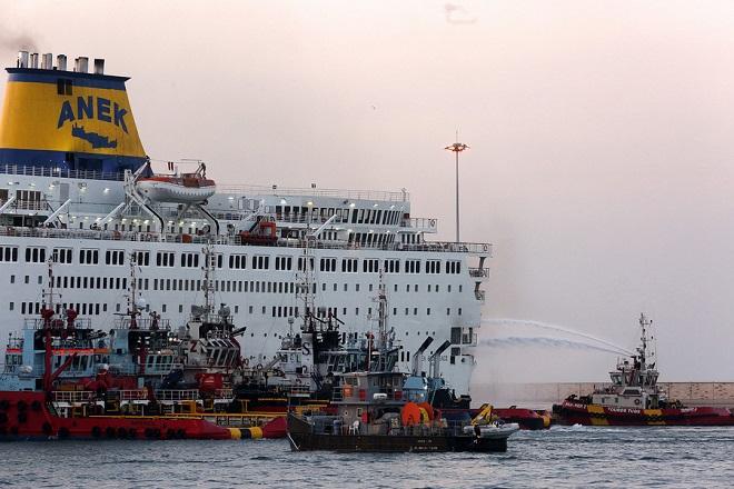 «Καπνίζει» για 5η ημέρα το πλοίο «Ελευθέριος Βενιζέλος»
