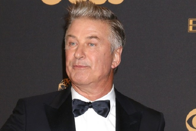 epa06211795 Alec Baldwin, winner of Outstanding Supporting Actor in a Comedy Series for 'Saturday Night Live', poses in the press room during the 69th annual Primetime Emmy Awards ceremony held at the Microsoft Theater in Los Angeles, California, USA, 17 September 2017. The Primetime Emmys celebrate excellence in national primetime television programming.  EPA/NINA PROMMER