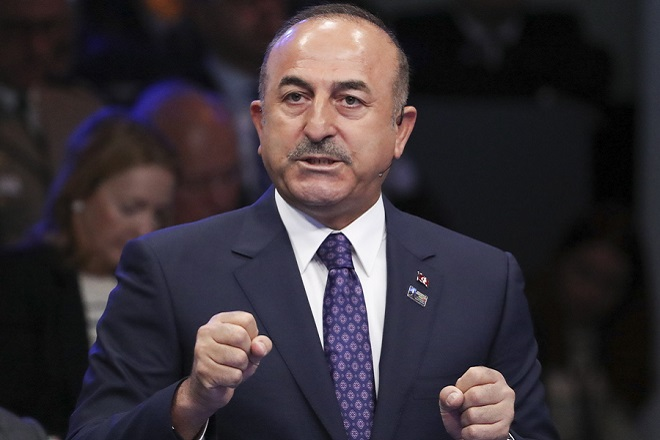 ΜΕΒΛΟΥΤ ΤΣΑΒΟΥΣΟΓΛΟΥ epa06879655 Turkish Foreign Minister Mevlut Cavusoglu attends the 'Nato Engage' forum on the sidelines of the NATO Summit in Brussels, Belgium, 11 July 2018. NATO member countries' heads of states and governments gather in Brussels on 11 and 12 July 2018 for a two days meeting.  EPA/TATYANA ZENKOVICH