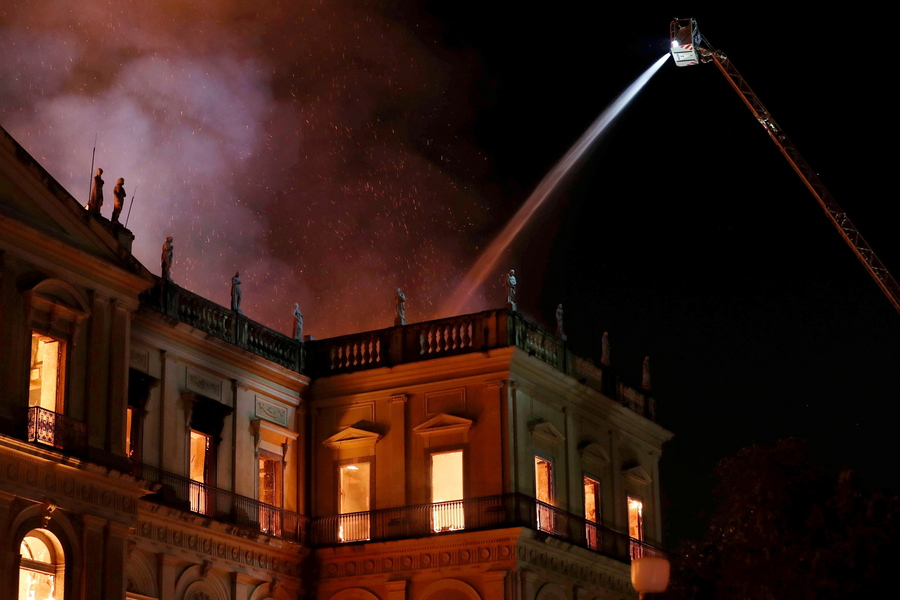 Fire breaks out in the National Museum of Rio de Janeiro