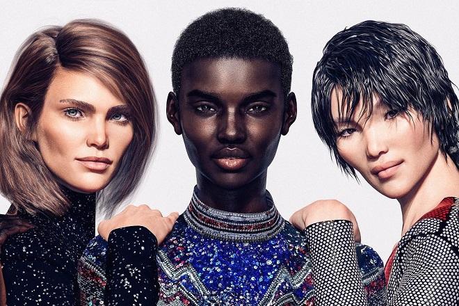 Ψηφιακά supermodel στον «στρατό» του οίκου Balmain
