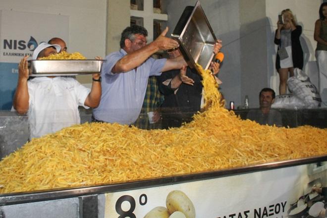 Ρεκόρ Γκίνες για το σερβίρισμα τηγανητής πατάτας η Νάξος