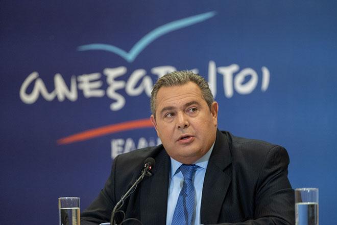 Ο πρόεδρος των Ανεξάρτητων Ελλήνων και υπουργός Εθνικής Άμυνας Πάνος Καμμένος μιλάει κατά τη διάρκεια συνέντευξης τύπου  στο πλαίσιο της επίσκεψής του στη Θεσσαλονίκη για την 83η Διεθνή Έκθεση Θεσσαλονίκης, Τρίτη 11 Σεπτεμβρίου 2018.  ΑΠΕ-ΜΠΕ/ΑΠΕ-ΜΠΕ/ΝΙΚΟΣ ΑΡΒΑΝΙΤΙΔΗΣ