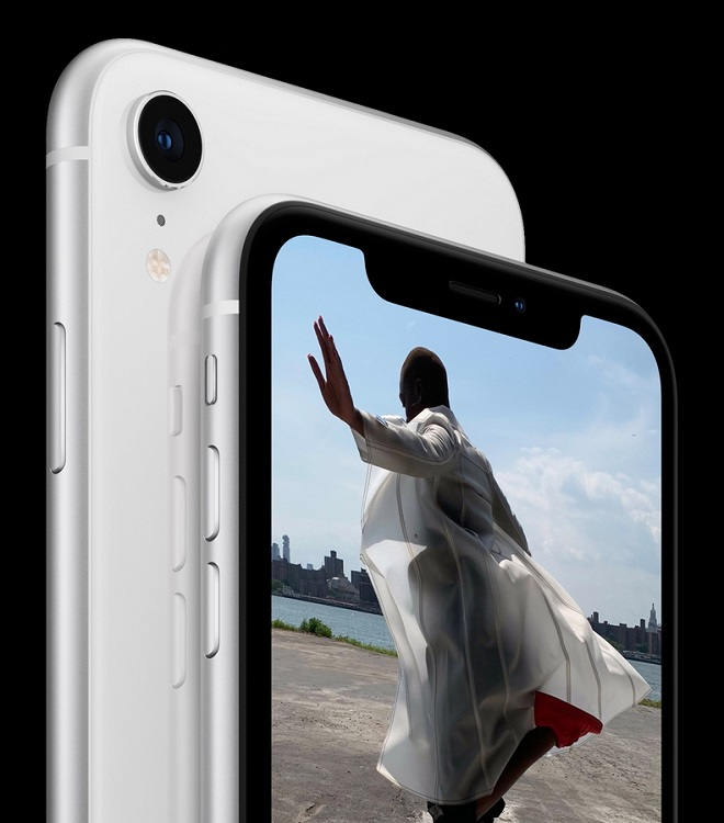 epa07015565 A handout photo made available by Apple Inc. shows the Apple iPhone X R introduced at the Apple Special Event at the Steve Jobs Theater in Cupertino, California, USA, 12 September 2018.  EPA/APPLE INC. HANDOUT MANDATORY CREDIT: Courtesy of Apple Inc. NON-COMMERICAL USE HANDOUT EDITORIAL USE ONLY/NO SALES