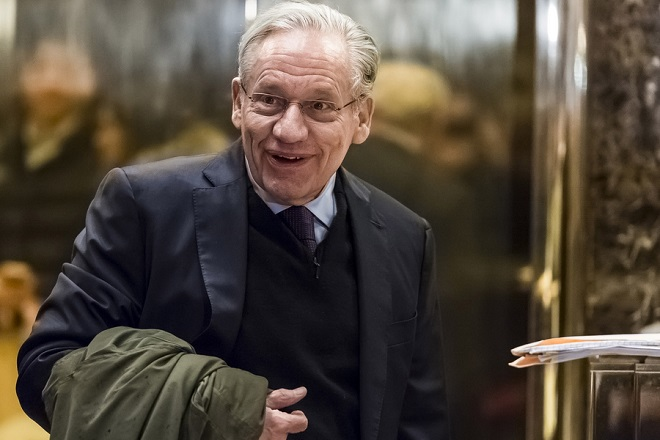 epa06998119 (FILE) - Washington Post legend, 1973 Pulitzer Prize winner, Bob Woodward arrives in the lobby of Trump Tower in New York, USA, 03 January 2017. Media reports on 05 September 2018 state that Bob Woodward has written a new book 'Fear', claiming that Trump White House is dysfunctional.  EPA/ALBIN LOHR-JONES / POOL