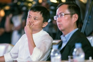 epa07004876 (FILE) - Alibaba Chariman Jack Ma (L) and CEO Zhang Yong attend a ceremony signing an agreement with Suning Group, China's largest home appliance retailer, in Nanjing, Jiangsu province, China, 10 August 2015 (reissued 08 September 2018). According to reports, Alibaba Group founder Jack Ma is to step down as executive chairman on 10 September 2018. CEO Daniel Zhang Yong is tipped ot become his successor.  EPA/XU KANGPING CHINA OUT *** Local Caption *** 52113132