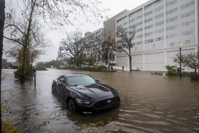 Τουλάχιστον πέντε νεκροί και μεγάλες πλημμύρες από τον κυκλώνα Φλόρενς στις ΗΠΑ