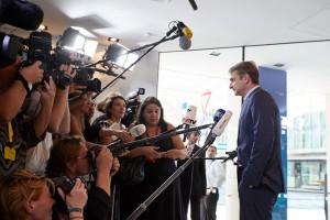 Ο πρόεδρος της Νέας Δημοκρατίας Κυριάκος Μητσοτάκης κάνει δηλώσεις στους δημοσιογράφους στη Σύνοδο Κορυφής του Ευρωπαϊκού Λαϊκού Κόμματος, στο Σάλτσμπουργκ, Τετάρτη 19 Σεπτεμβρίου 2018. ΑΠΕ-ΜΠΕ/ΓΡΑΦΕΙΟ ΤΥΠΟΥ ΝΔ/ΔΗΜΗΤΡΗΣ ΠΑΠΑΜΗΤΣΟΣ