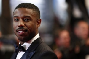 epa06732119 US actor Michael B. Jordan arrives for the screening of 'Farenheit 451' during the 71st annual Cannes Film Festival, in Cannes, France, 12 May 2018. The movie is presented in the section Midnight Screenings at the festival which runs from 08 to 19 May.  EPA/IAN LANGSDON