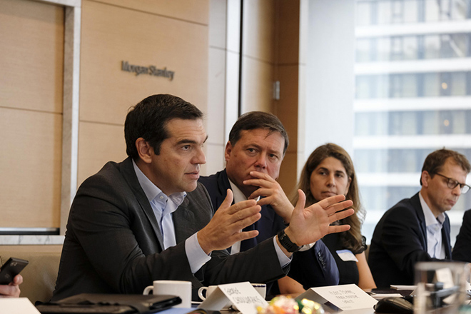 Τσίπρας σε Morgan Stanley: «Το μεγάλο στοίχημα είναι η προσέλκυση επενδύσεων»