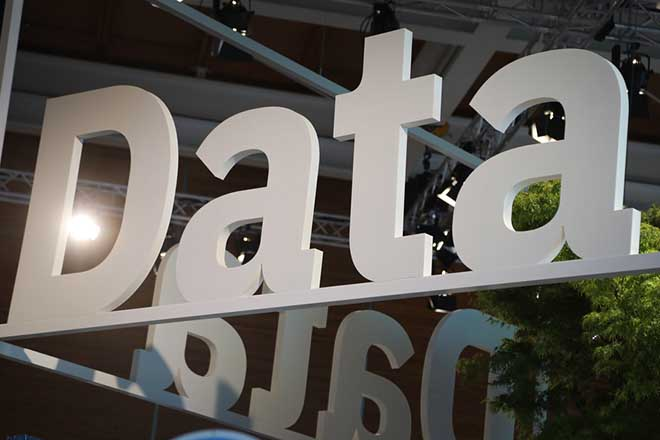 epa06800466 The word 'Data' at the IBM booth at the CeBIT computer fair in Hanover, northern Germany, 11 June 2018. About 2,500 exhibitors at the fair present their latest developments in computing, intelligent automotive solutions, artificial intelligence and cloud based services from 11 to 15 June. The 2018 CeBIT in Hannover follows a new concept focusing more on events and conferences.  EPA/FOCKE STRANGMANN