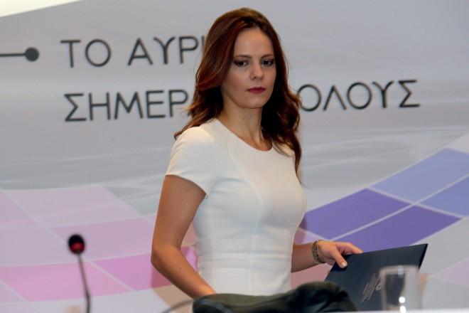 Η υπουργός Εργασίας, Κοινωνικής Ασφάλισης και Κοινωνικής Αλληλεγγύης, Έφη Αχτσιόγλου και ο υφυπουργός Εργασίας, Νάσος Ηλιόπουλος συμμετέχουν σε συνέντευξη Τύπου με θέμα τις δράσεις καταπολέμησης της ανεργίας , Πέμπτη 4 Οκτωβρίου 2018. ΑΠΕ-ΜΠΕ/ΑΠΕ-ΜΠΕ/ ΠΑΝΤΕΛΗΣ ΣΑΙΤΑΣ