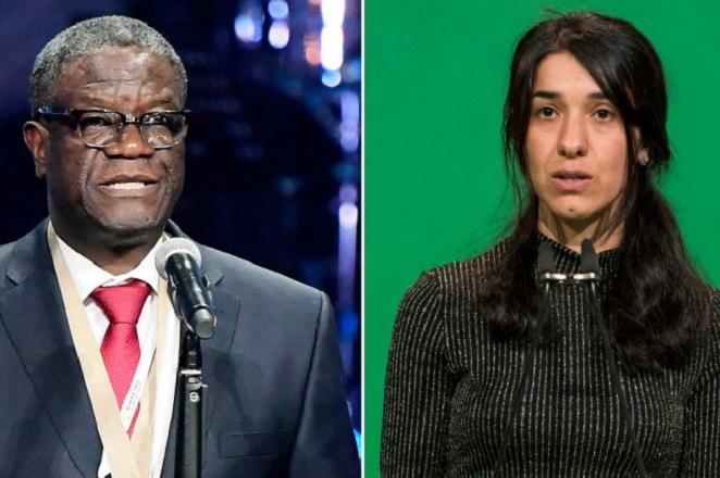 Στις γυναίκες ανά τον κόσμο που έχουν υποστεί σεξουαλική βία αφιερώνουν το βραβείο Νόμπελ οι φετινοί νικητές του