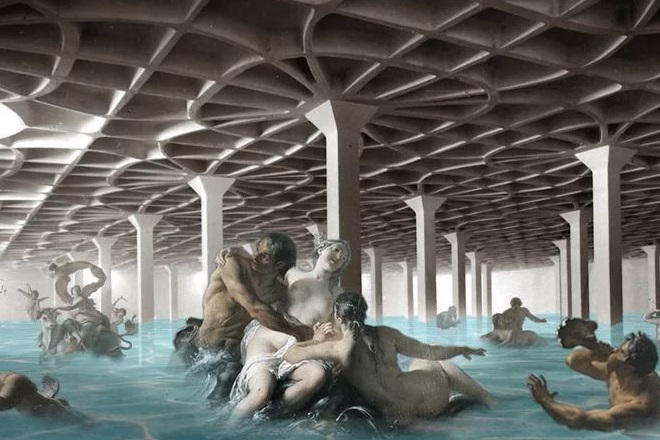 Ισραηλινός καλλιτέχνης μετατρέπει αρχιτεκτονικά έργα σε πισίνες