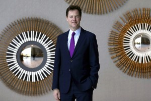 epa07104652 (FILE) - Former British Liberal Democratic leader Nick Clegg poses for the photographer during his visit to Barcelona, Spain, 06 April 2017 (reissued 19 October 2018). According to media reports on 19 October 2018, former British deputy prime minister and Liberal Democrats leader, Nick Clegg has been hired by Facebook as its head of global affairs and communications.  EPA/ALEJANDRO GARCIA