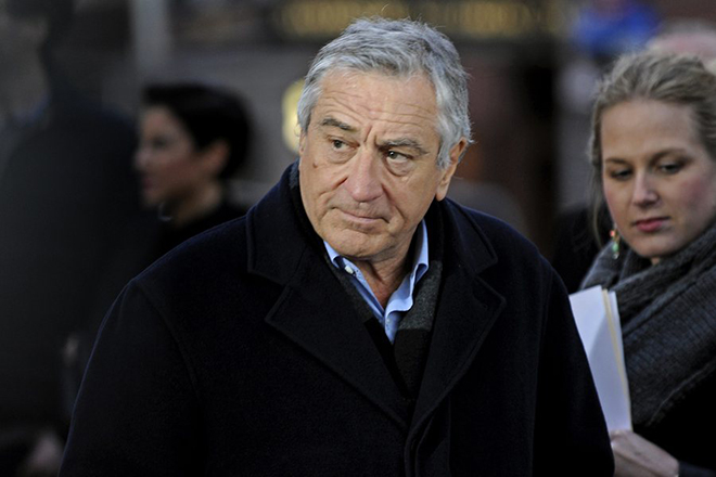 epa04169531 US actor Robert DeNiro arrives at the World Premiere of 'Time is Illmatic' at the Tribeca Film Festival, in New York, New York , USA, 16 April 2014.  EPA/PETER FOLEY
