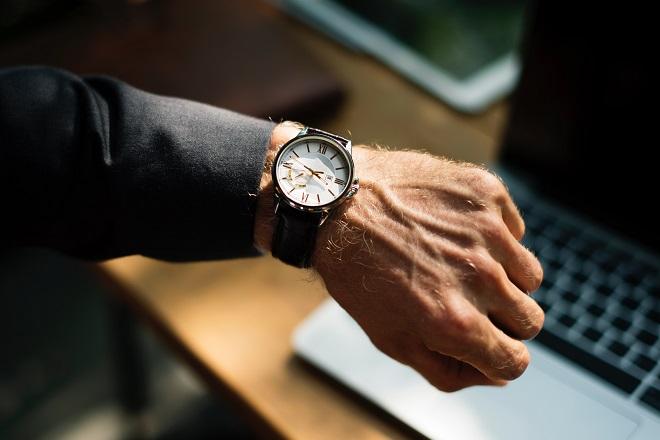clock watch time management businessman business