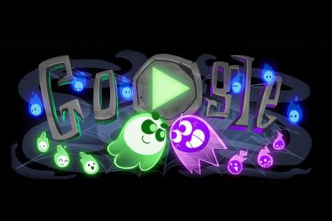 Halloween google doodle 2