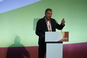 Ο επικεφαλής του κόμματος Το Ποτάμι, Σταύρος Θεοδωράκης, μιλάει κατά τη διάρκεια του ανοιχτού συνεδρίου του κόμματος, στην Αθήνα, Σάββατο 3 Νοεμβρίου 2018. ΑΠΕ-ΜΠΕ/ΑΠΕ-ΜΠΕ/ΓΙΑΝΝΗΣ ΚΟΛΕΣΙΔΗΣ