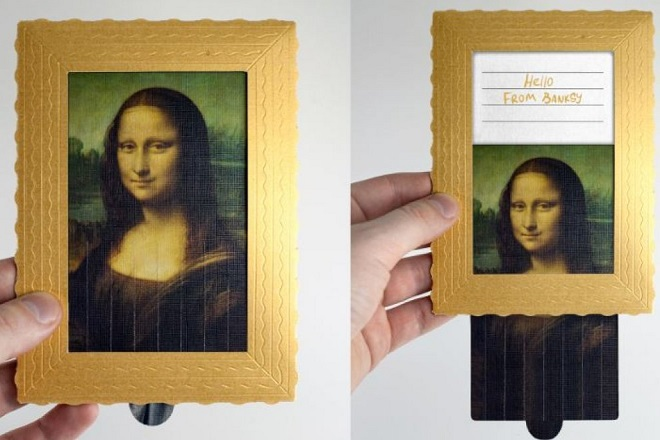 Hello from Banksy: κάρτες μουσείων που «αυτοκαταστρέφονται»
