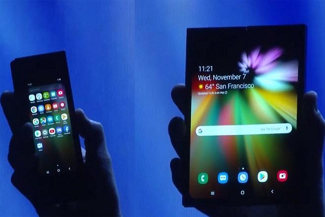 Η Samsung παρουσίασε το δικό της κινητό τηλέφωνο που διπλώνει