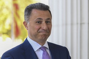 epa07071796 FYR of Macedonia ex-prime minister Nikola Gruevski arrives in the court in Skopje, The Former Yugoslav Republic of Macedonia on 05 October 2018. The Skopje Court of Appeal has confirmed the two-year prison term for the ex- prime minister, Nikola Gruevski, for abuse in the procurement of the bulletproof Mercedes of 600,000 euros. According to the Special Public Prosecutor's Office, Gruevski's crime in the 'Tenk' case is obsolete at the end of October, so the verdict is in the legally stipulated deadline.  EPA/GEORGI LICOVSKI