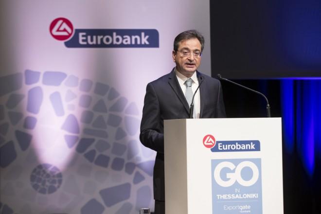 (Ξένη δημοσίευση) Ο Διευθύνων Σύμβουλος της Eurobank, Φωκίων Καραβίας, κατά την ομιλία του στο Go in Thessaloniki Forum, που διοργάνωσε η Eurobank, στη Θεσσαλονίκη, τη Δευτέρα 12 Νοεμβρίου 2018. ΑΠΕ ΜΠΕ/EUROBANK/GΟ TΗΕSSALONIKI/ATHANASSIOS ANAGNOSTOPOULOS