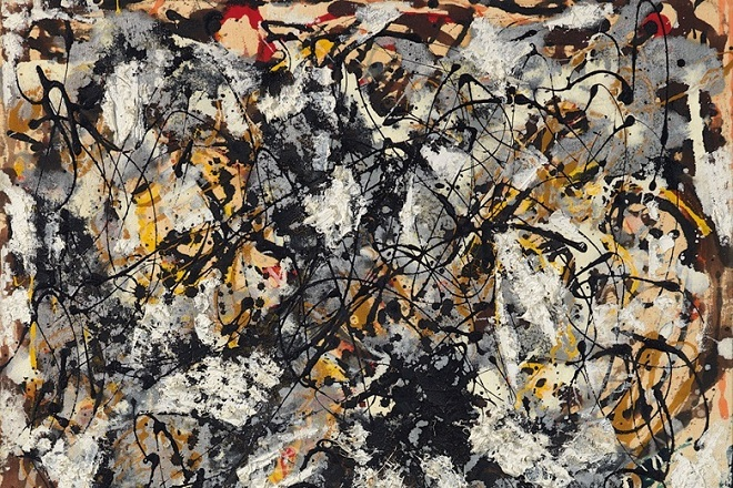 Composition With Red Strokes Jackson Pollock