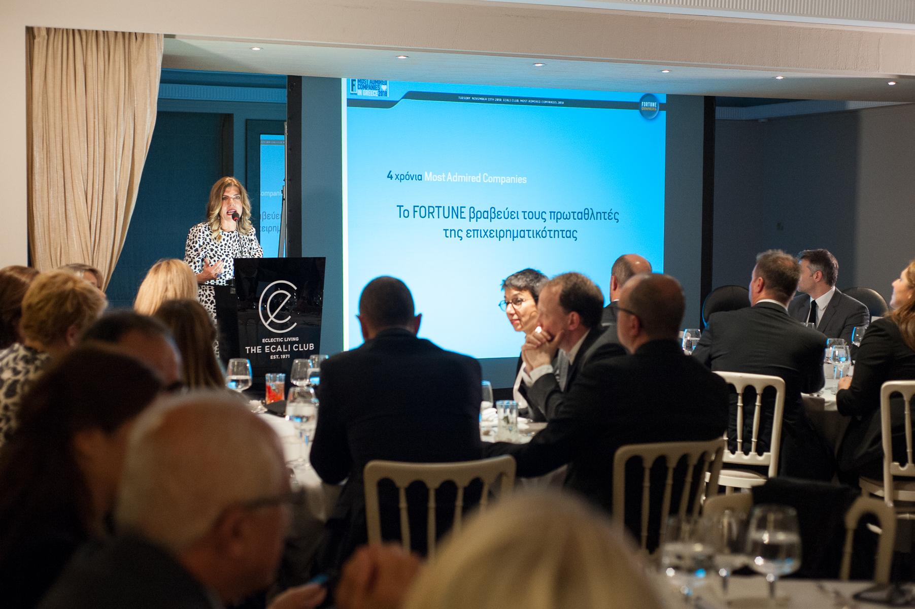 Fortune Dinner στο Ecali Club: Οι πιο αξιοθαύμαστες εταιρείες στην Ελλάδα βραβεύτηκαν σε μια ξεχωριστή εκδήλωση