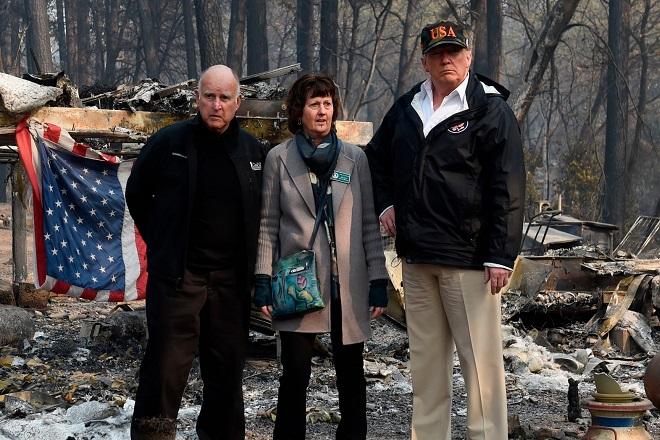 california fire trump