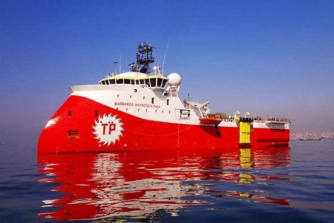 Εντός της κυπριακής ΑΟΖ το τουρκικό ερευνητικό σκάφος Barbaros μαζί με 4 πολεμικά πλοία
