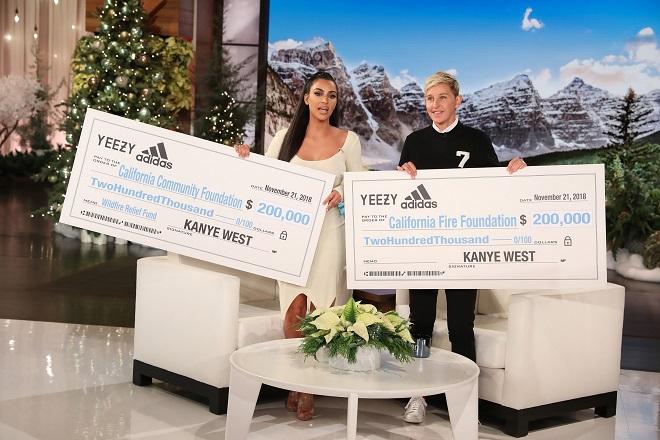 Κιμ Καρντάσιαν και Κάνιε Γουέστ δώρισαν 500.000 δολάρια στους πυρόπληκτους της Καλιφόρνια
