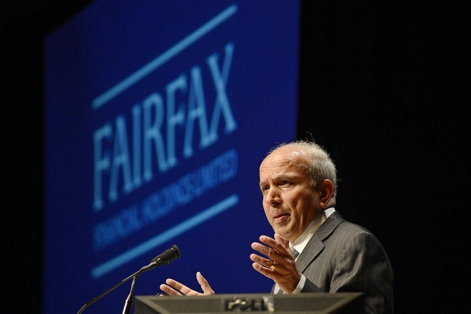 Fairfax Financial Holdings Ltd. Chairman and Chief Executive Officer Prem Watsa speaks during the company's annual meeting in Toronto in this file photo taken April 11, 2013. Struggling smartphone maker BlackBerry Ltd said on Monday that it has agreed in principal to be acquired by a consortium led by Fairfax Financial Holdings Ltd for $4.7 billion.  REUTERS/Aaron Harris/Files  (CANADA - Tags: BUSINESS)