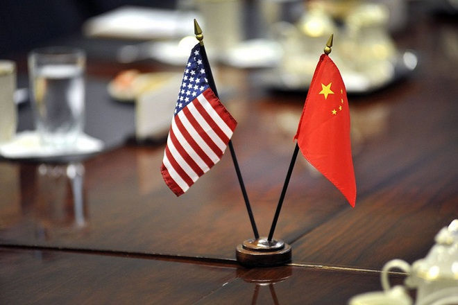 china usa flags