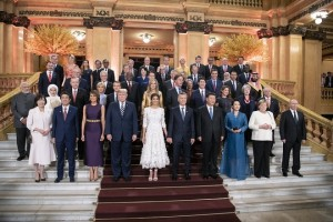 epa07200699 A handout photo made available by  the German Federal Government shows a goup picture of participating heads of states and government ending a day of the G20 Summit at Teatro Colon in Buenos Aires, Argentina, 01 December 2018. The Group of Twenty (G20 ) Summit brings together the heads of State or Government of the 20 largest economies and takes place from 30 November to 01 December 2018.  EPA/Guido Bergmann HANDOUT  HANDOUT EDITORIAL USE ONLY/NO SALES