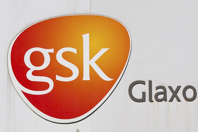 epa05155722 (FILE) A file picture showing the logo of the British multinational pharmaceutical and consumer healthcare company GlaxoSmithKline (GSK, bottom) outside the GSK factory in Shanghai, China, 17 July 2013. According to news reports on 12 February 2016 the British Competition and Markets Authority (CMA) has fined a number of pharmaceutical companies, including GlaxoSmithKline PLC, (GSK) for anti-competitive conduct and agreements in relation to the supply of paroxetine. GSK's total fine is 37,6 million GBP or 48.2 million euros. Generics (UK) Limited (GUK) was fined 5,8 million GBP or 7.4 million euros have been imposed on Merck KGaA (GUK's former parent) and GUK and Alpharma's infringement, total fines of 1,5 million GBP or 1.9 million euros have been imposed on Actavis UK Limited (formerly Alpharma Limited), Xellia Pharmaceuticals ApS (formerly Alpharma ApS) and Alpharma LLC (formerly Zoetis Products LLC, Alpharma LLC and Alpharma Inc).  EPA/STR CHINA OUT