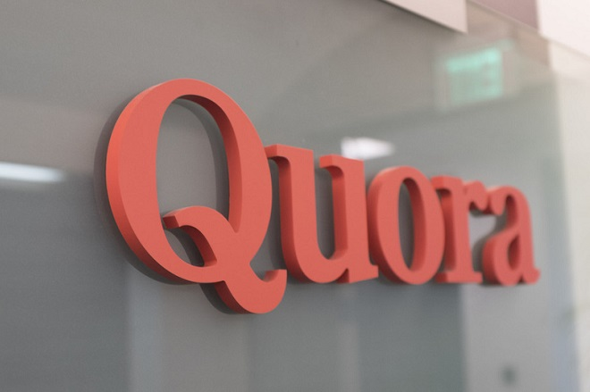 A sign of Quora is seen in its office in Mountain View, California on April 17, 2018. (Photo by Yichuan Cao/Sipa USA)